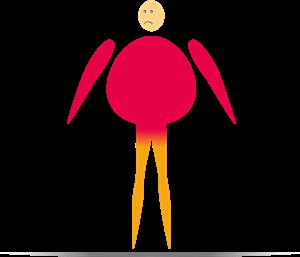 Knieschmerzen wegen schlechter Muskelverteilung